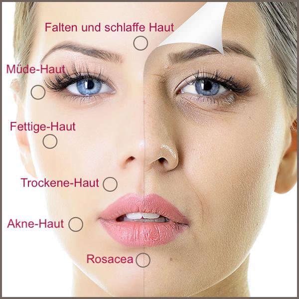Gesunde Lösung mit Vitaminkomplex für jede Haut und jedes Hautproblem